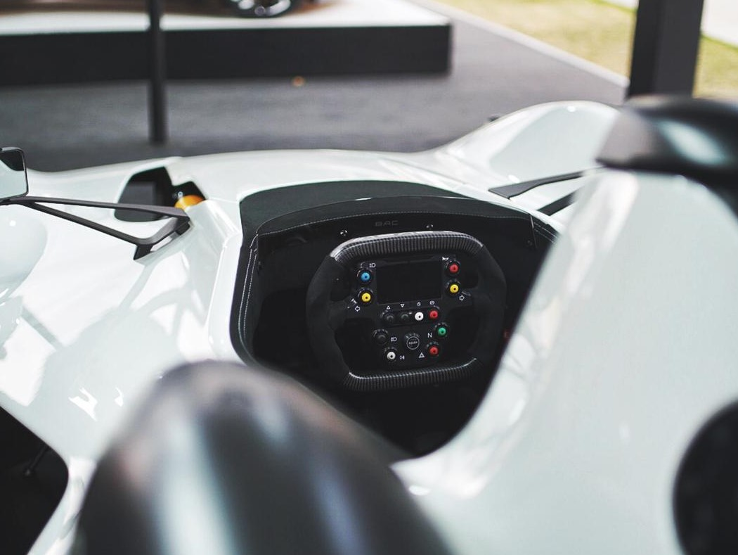 BAC Mono R's steering wheel features 3D-printed