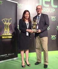 Solvay biobased ECH bags innovation award image
